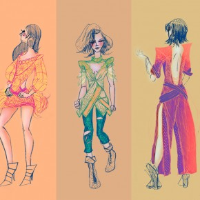 Balmain Inspired Fashion Illustration